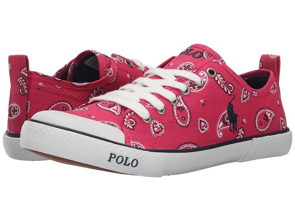 Polo Ralph Lauren Kids - Carlisle III (Big Kid) (Ultra Pink Bandana/Navy) Girl's Shoes