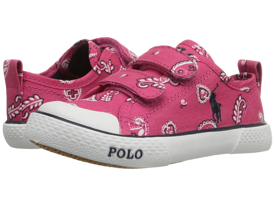 Polo Ralph Lauren Kids - Carlisle III EZ (Toddler) (Ultra Pink Bandana/Navy) Kid's Shoes