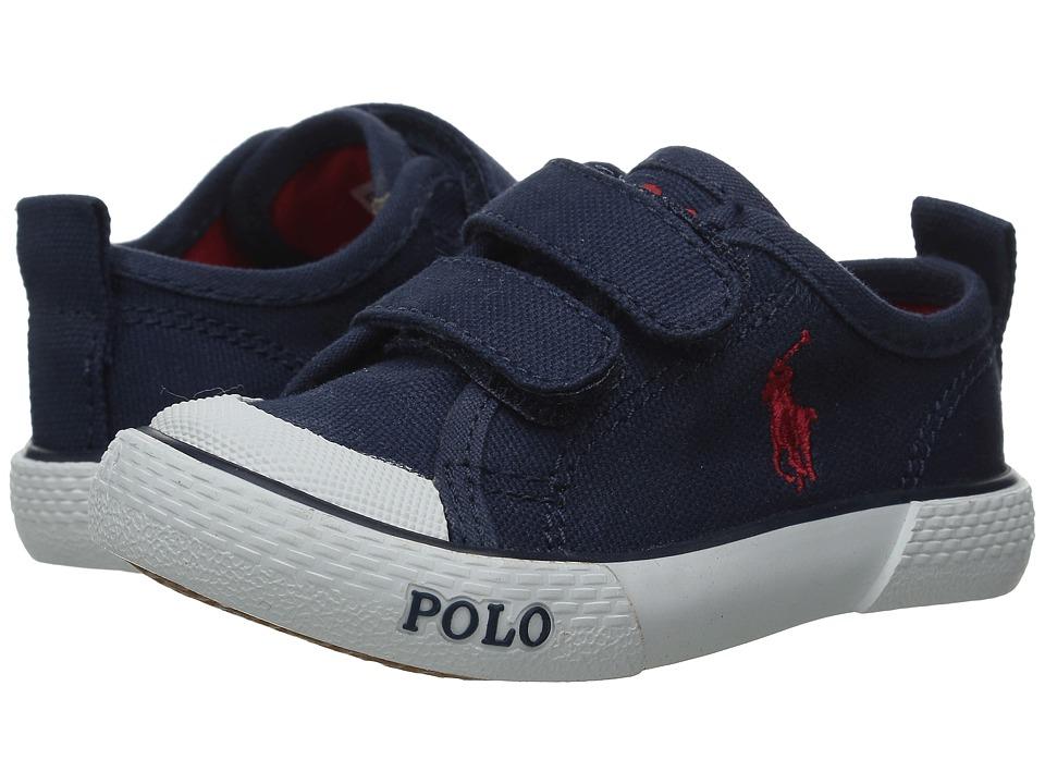 Polo Ralph Lauren Kids - Carlisle III EZ (Toddler) (Navy Canvas/Red) Kid's Shoes