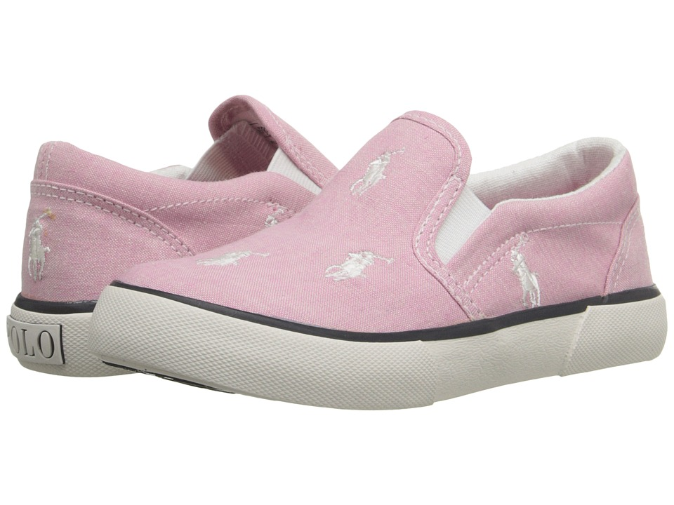 Polo Ralph Lauren Kids - Bal Harbour Repeat (Toddler) (Pink Chambray/White Ponies) Girls Shoes