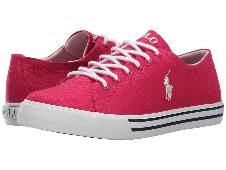 Polo Ralph Lauren Kids - Scholar (Big Kid) (Ultra Pink Canvas/Paper White) Girl's Shoes