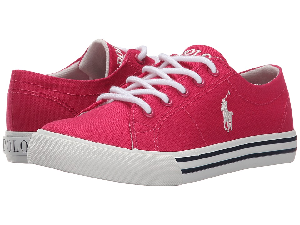Polo Ralph Lauren Kids - Scholar (Little Kid) (Ultra Pink Canvas/Paper White) Girl's Shoes
