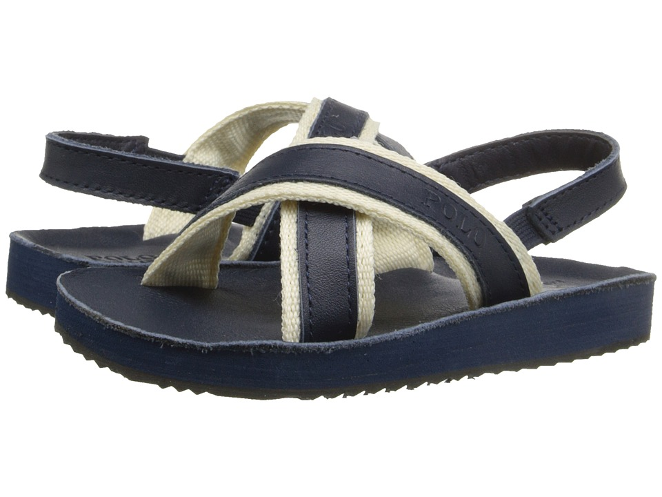 Polo Ralph Lauren Kids - X-Band II (Toddler) (Navy Burnished Leather) Boys Shoes