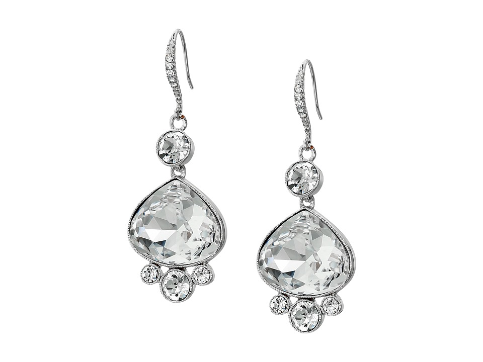 Nina - Raja Earrings (Silver/Crystal) Earring