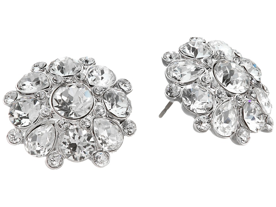 Nina - Morilla Earrings (Silver/Crystal) Earring