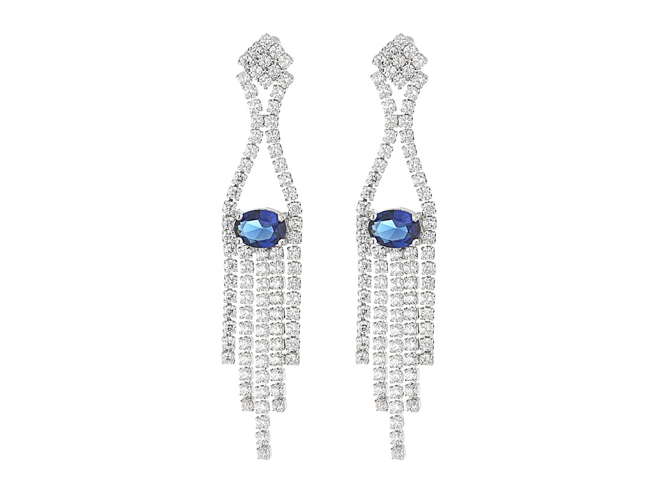 Nina - Joplin Earrings (Rhodium/White CZ) Earring