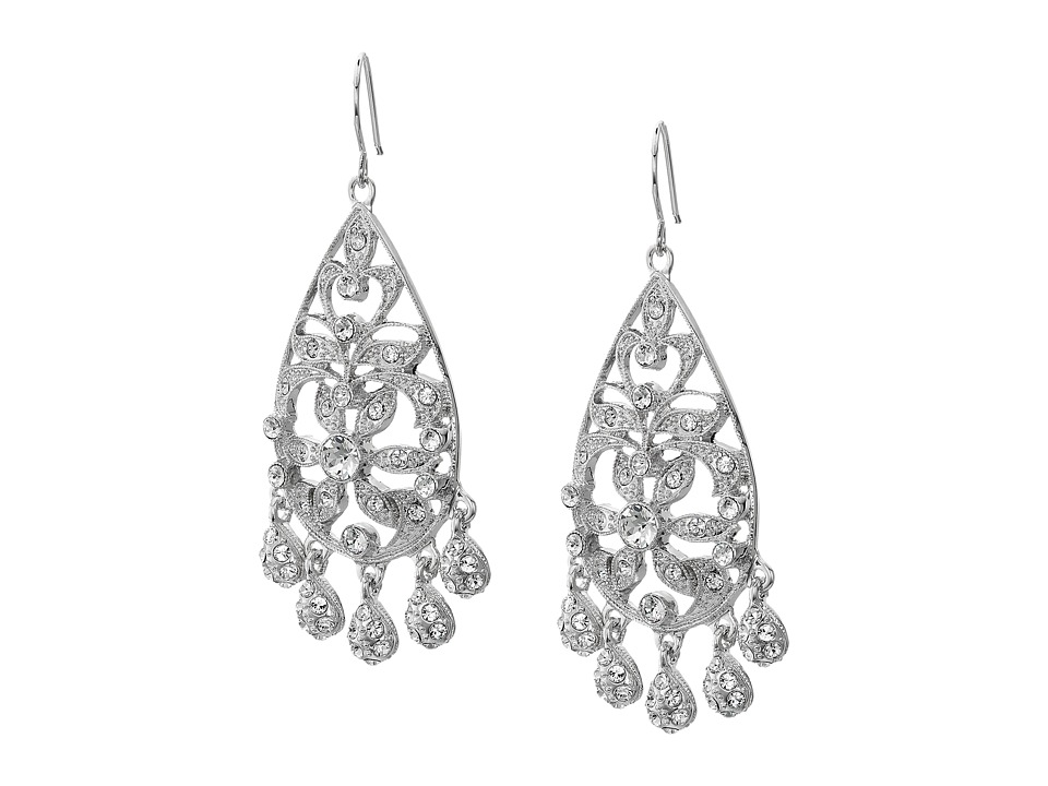 Nina - Calico Earrings (Silver/Crystal) Earring