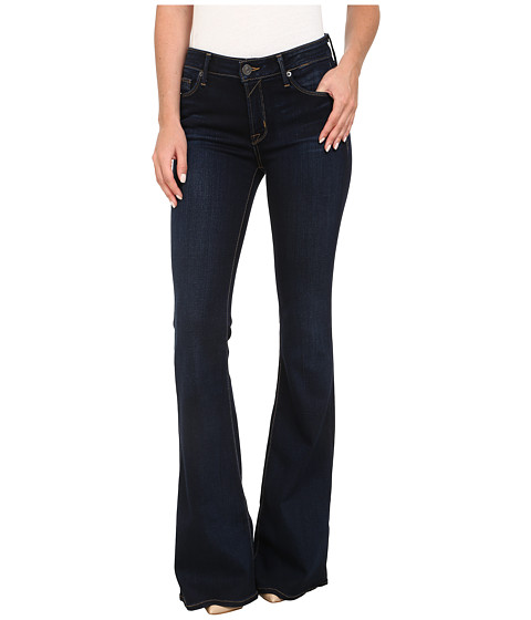 Hudson - Mia Five-Pocket Mid Rise Flare Jeans in Oracle (Oracle) Women