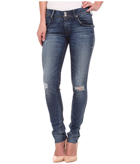 Hudson - Collin Mid Rise Skinny w/ Raw Hem Jeans in Beaudry (Distress) (Beaudry (Distress)) Women