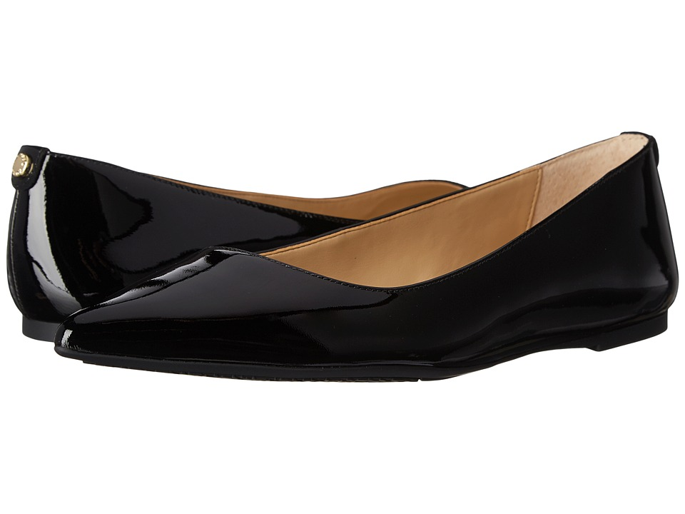 MICHAEL Michael Kors - Arianna Flat (Black Patent) Women's Flat Shoes