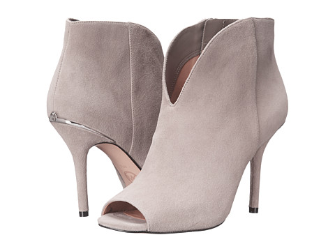 MICHAEL Michael Kors - Arianna Open Toe Bootie (Pearl Grey Kid Suede) Women's Toe Open Shoes