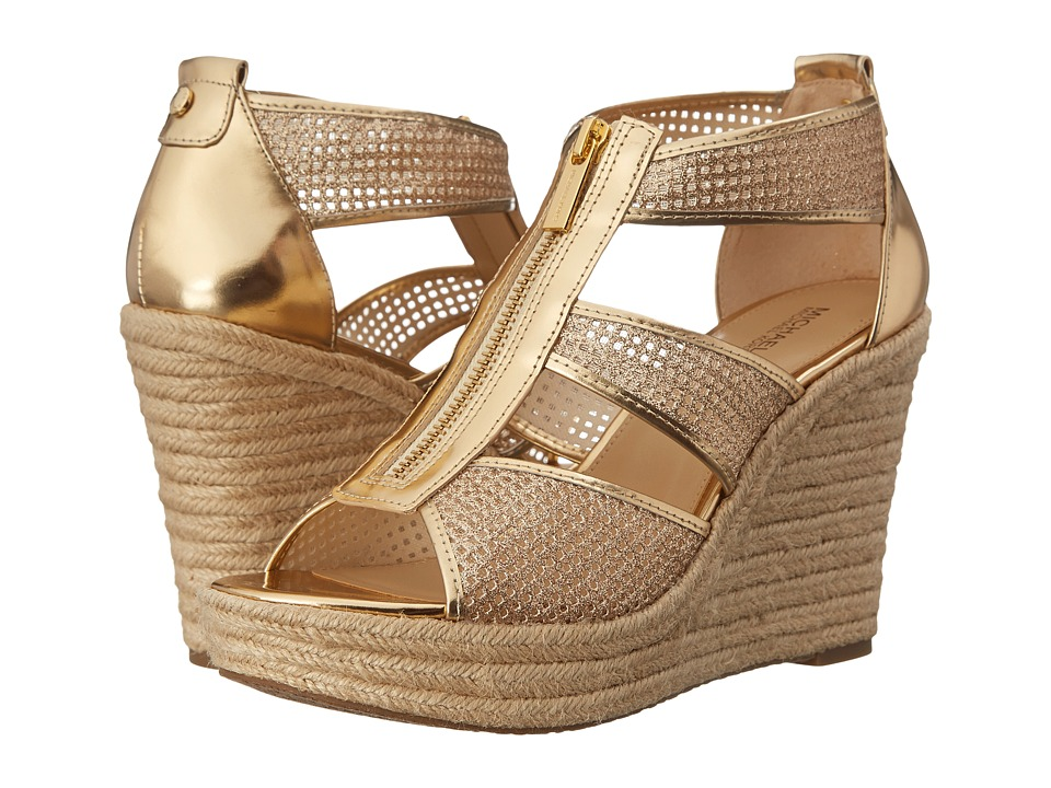 MICHAEL Michael Kors - Damita Wedge (Pale Gold) Women's Wedge Shoes