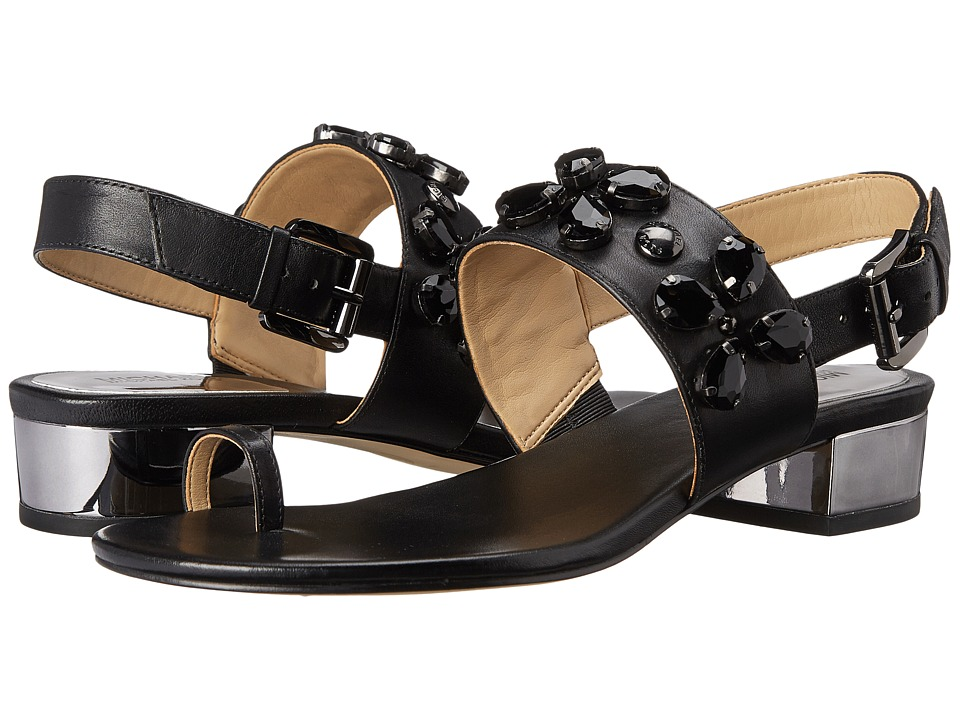 MICHAEL Michael Kors - Dory Flat Sandal (Black Vachetta) Women's Sandals
