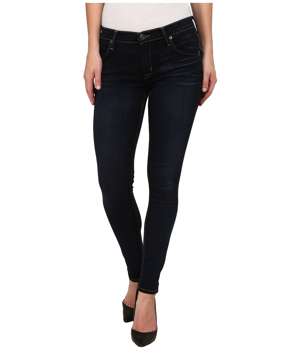 Hudson - Lilly Midrise Ankle Skinny w/ Flap Jeans in Oracle (Oracle) Women's Jeans