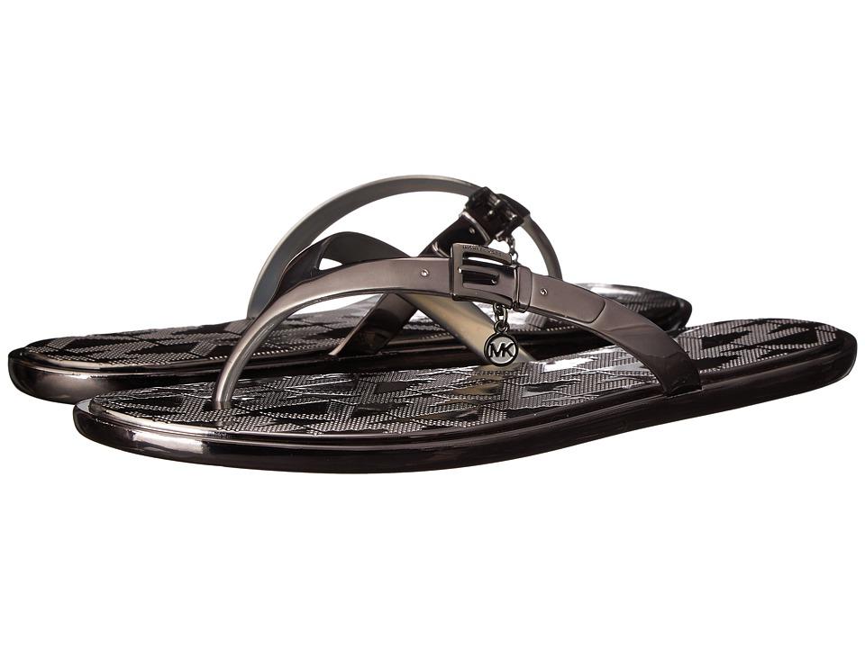 MICHAEL Michael Kors - Emory Flip Flop (Gunmetal Metallic) Women's Toe Open Shoes