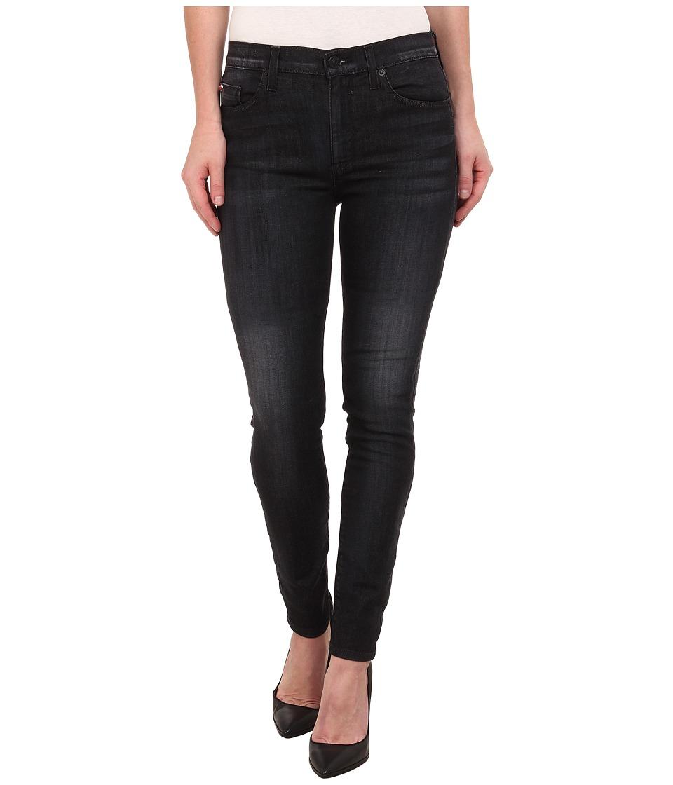 Hudson Barbara High Rise Skinny Jeans in Blackbird (Blackbird) Women