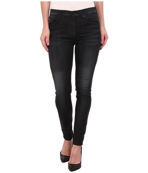 Hudson - Barbara High Rise Skinny Jeans in Blackbird (Blackbird) Women's Jeans