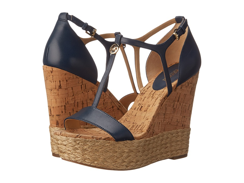 MICHAEL Michael Kors - Kerri Wedge (Navy) Women's Wedge Shoes