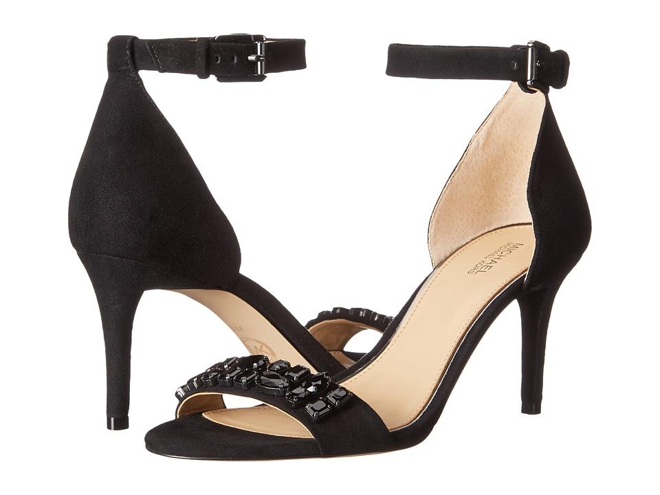 MICHAEL Michael Kors - Sylvie Mid Sandal (Black) High Heels