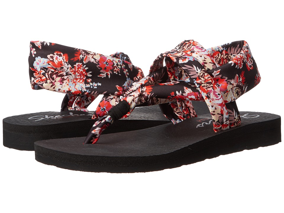 SKECHERS - Meditation - Dandelion (Black) Women's Sandals