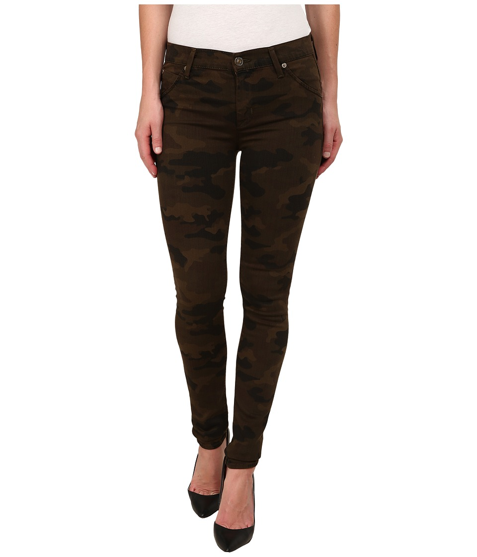 Hudson - Lilly Mid Rise Ankle Skinny w/ Flap Jeans in Combat Combo (Combat Combo) Women's Jeans