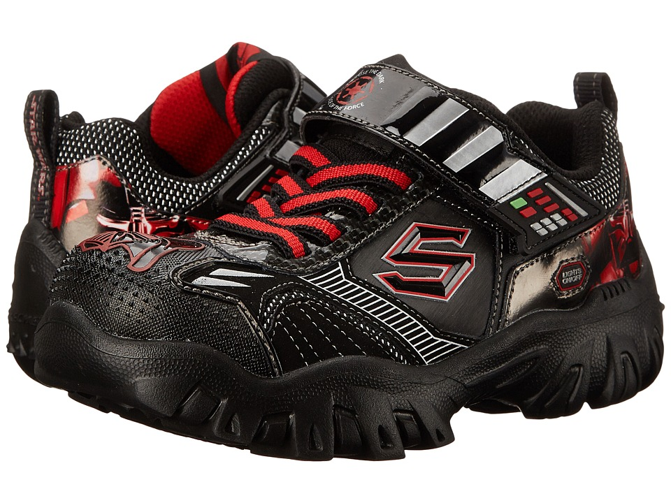 SKECHERS KIDS - Star Wars: Damager III - Hypernova (Black/Red) Boy's Shoes