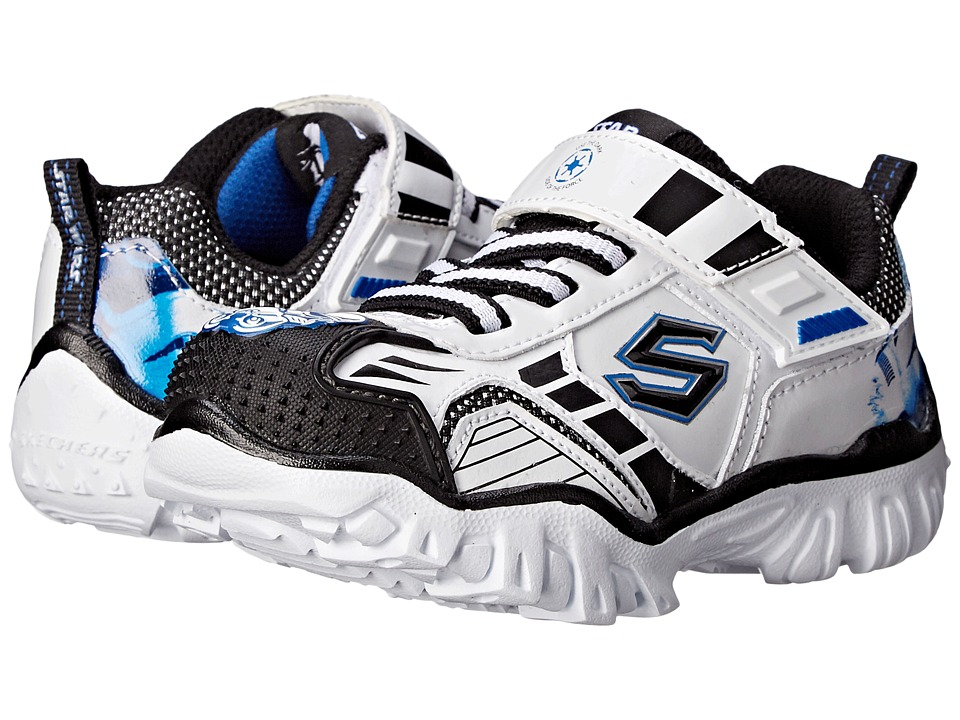 SKECHERS KIDS - Star Wars: Damager III - Hypernova (White/Black) Boy's Shoes