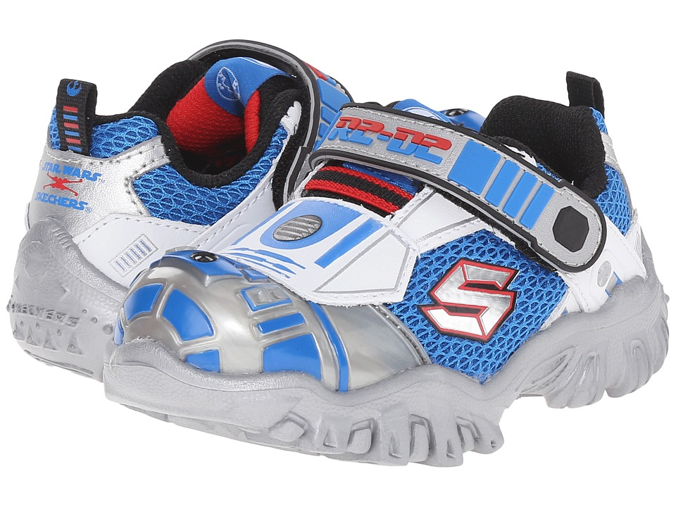 SKECHERS KIDS - Star Wars: Damager III - Astromech (Toddler) (Silver/Blue) Boy's Shoes