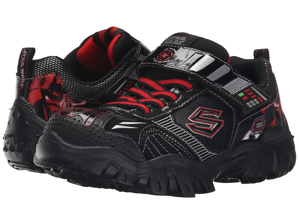 SKECHERS KIDS - Star Wars: Damager III - Hypernova (Little Kid) (Black/Red) Boy's Shoes