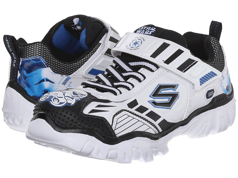 SKECHERS KIDS - Star Wars: Damager III - Hypernova (Little Kid) (White/Black) Boy's Shoes