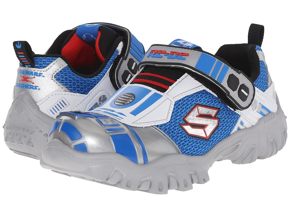 SKECHERS KIDS - Star Wars: Damager III - Astromech (Little Kid) (Silver/Blue) Boy's Shoes
