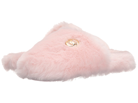 MICHAEL Michael Kors - Jet Set Mk Fur (Pink Faux Fur) Women's Slippers