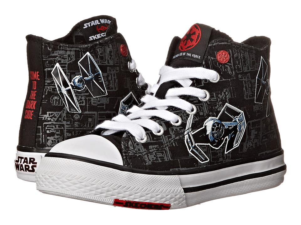 SKECHERS KIDS - Star Wars: Cayden - Sith Lord (Little Kid/Big Kid) (Black/White) Boy's Shoes