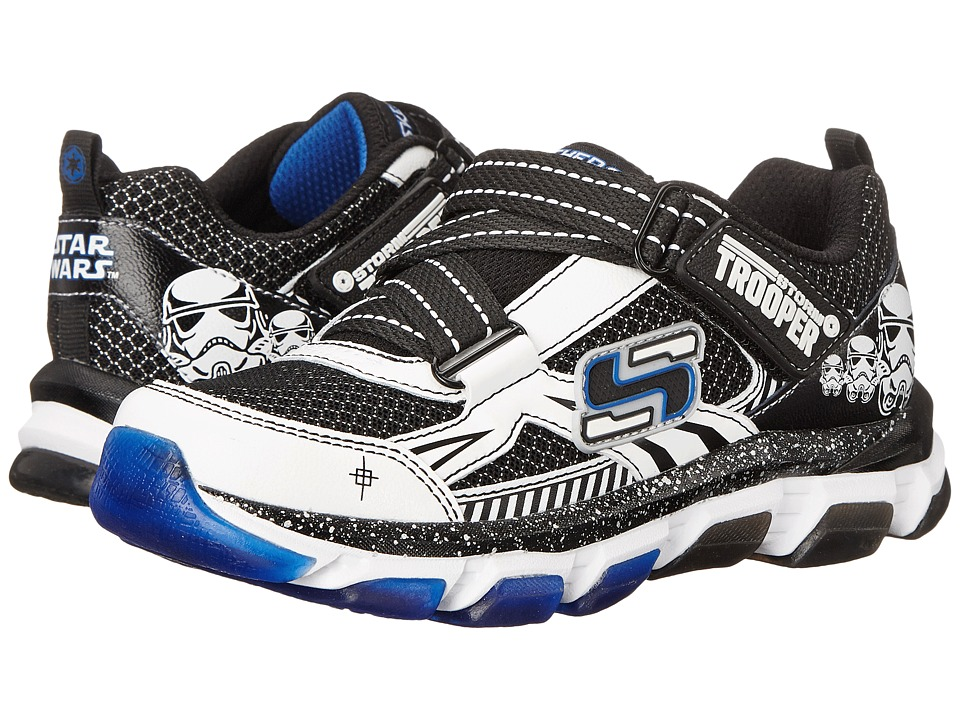 SKECHERS KIDS - Star Wars: X-cellorator 2.0 - Saga (Little Kid) (White/Black) Boy's Shoes