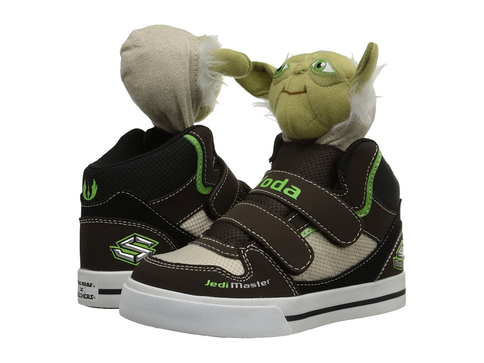 SKECHERS KIDS - Star Wars: Vert - Wise One (Toddler) (Chocolate/Taupe) Boy's Shoes