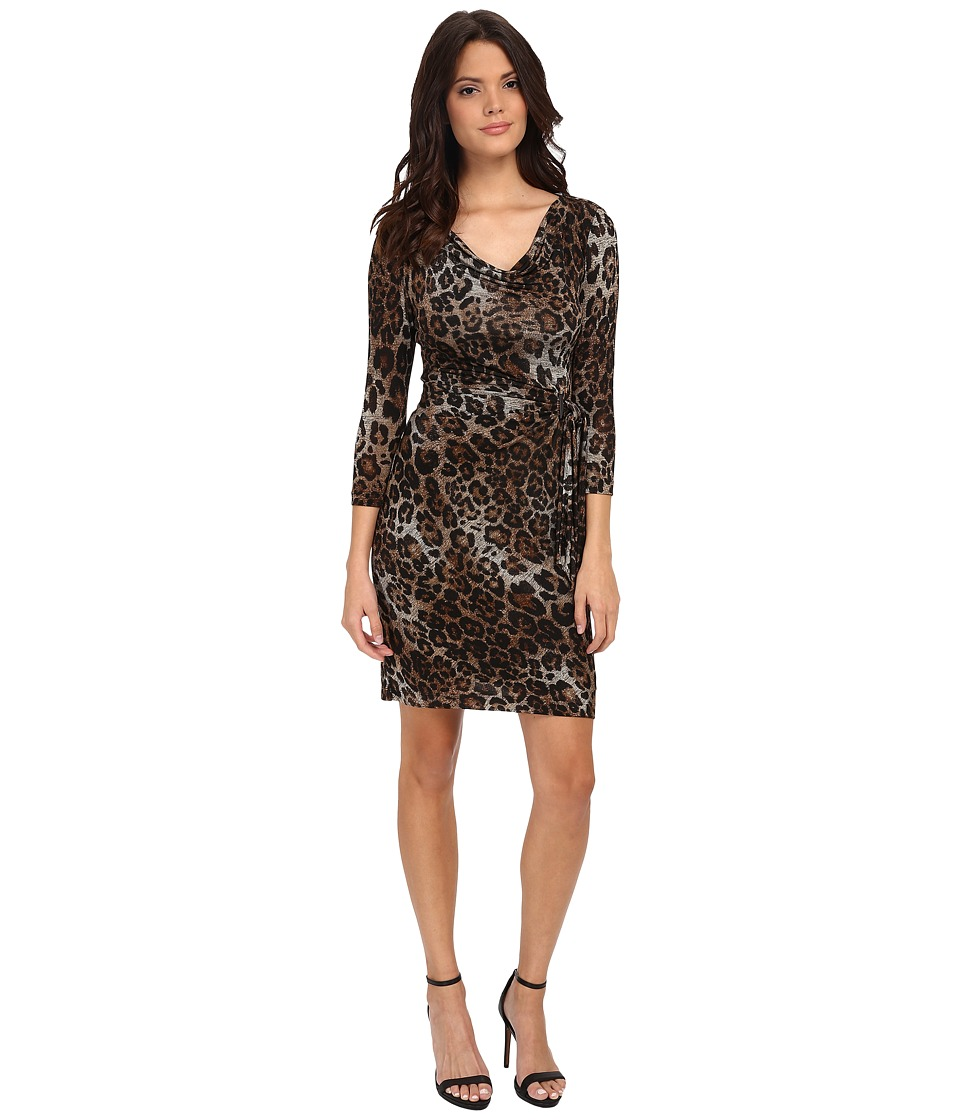 Tahari by ASL - Knit Leopard Dress (Natural) Women's Dress