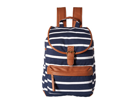 Madden Girl - Bbennji (Navy Stripe Jersey) Backpack Bags