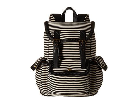Madden Girl - Bfratt (Black Canvas Stripe) Backpack Bags