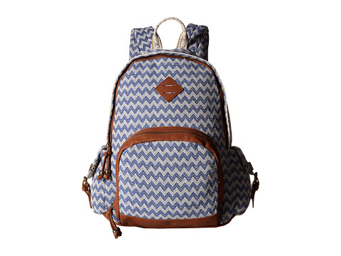 Madden Girl - Breccess (Blue Chevron) Backpack Bags