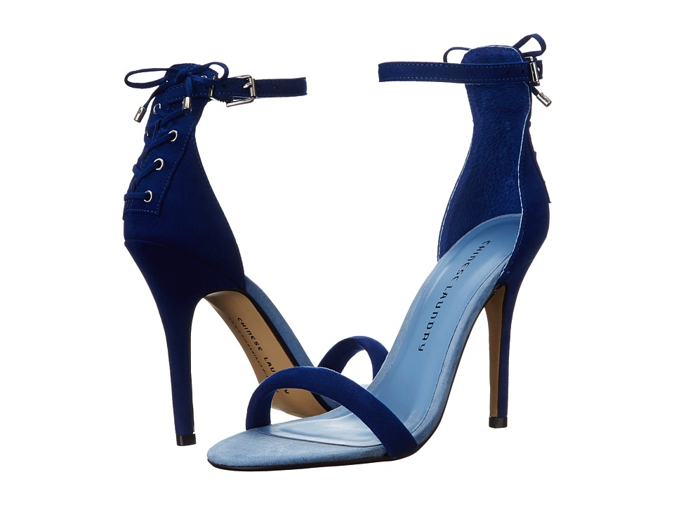 Chinese Laundry - Jealous (Deep Ocean Blue Micro Suede) High Heels