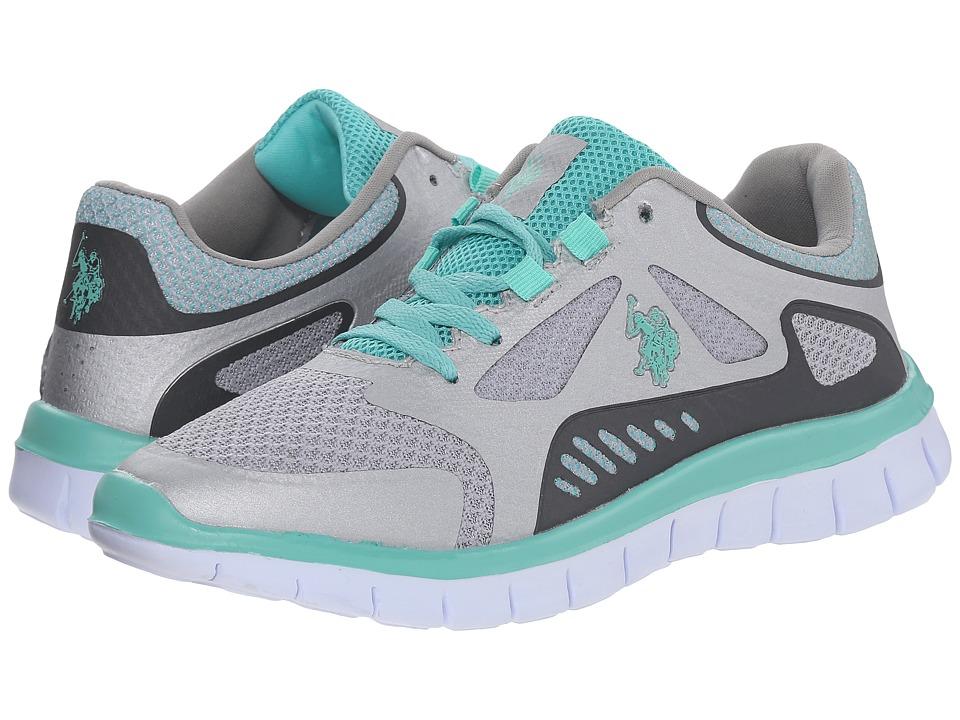 U.S. POLO ASSN. - Joni (Silver/Dark Grey/Mint) Women's Lace up casual Shoes
