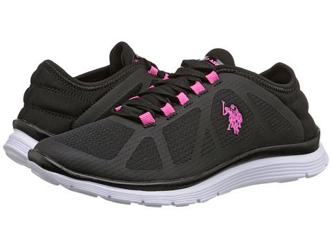 U.S. POLO ASSN. - Laurie (Black/Pink/White) Women