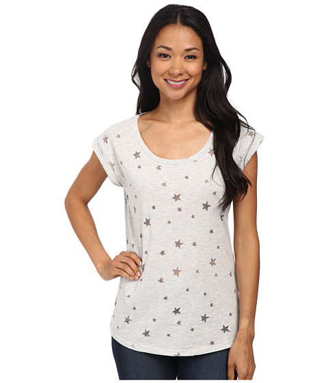 Dylan by True Grit - Vintage Star Short Sleeve Tee (Fresh White) Women