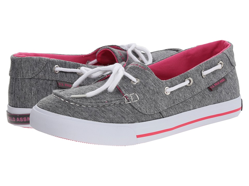 U.S. POLO ASSN. - Stacy (Grey Jersey/Hot Pink) Women's Lace up casual Shoes
