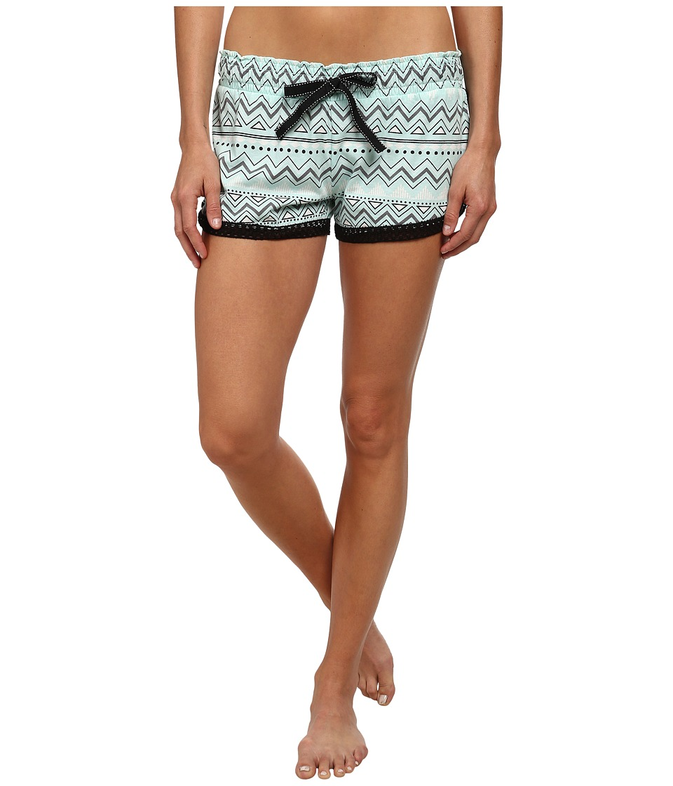 P.J. Salvage - Paradise Palm Sleep Shorts (Mint) Women's Pajama