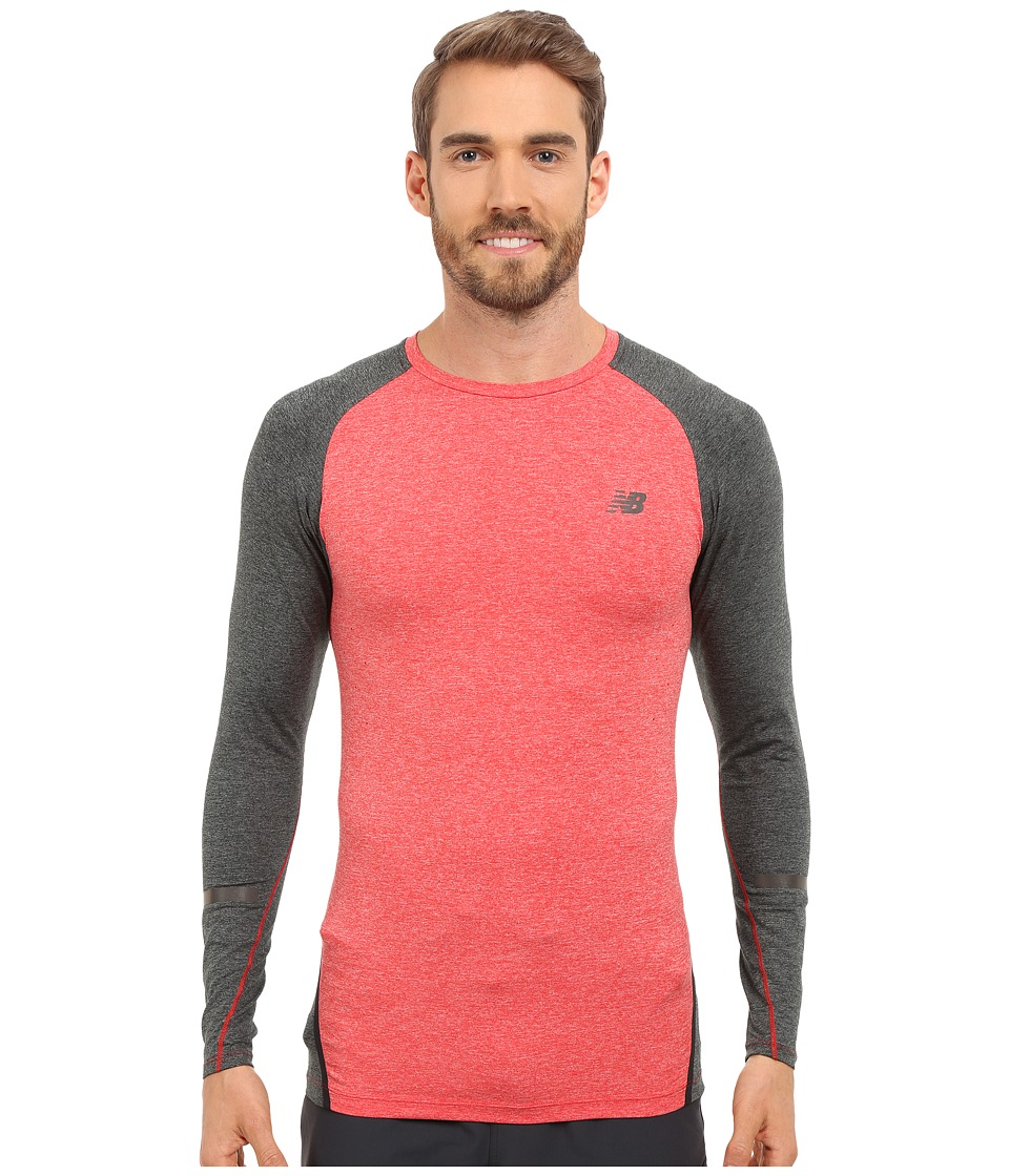 New Balance - Trinamic Long Sleeve Top (Chrome Red) Men's Long Sleeve Pullover
