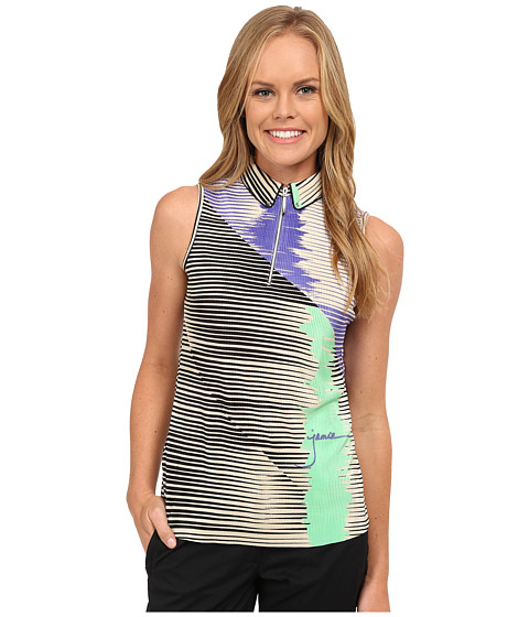Jamie Sadock - Crunchy Textured Kinetic Print Sleeveless Top (Lillypad) Women