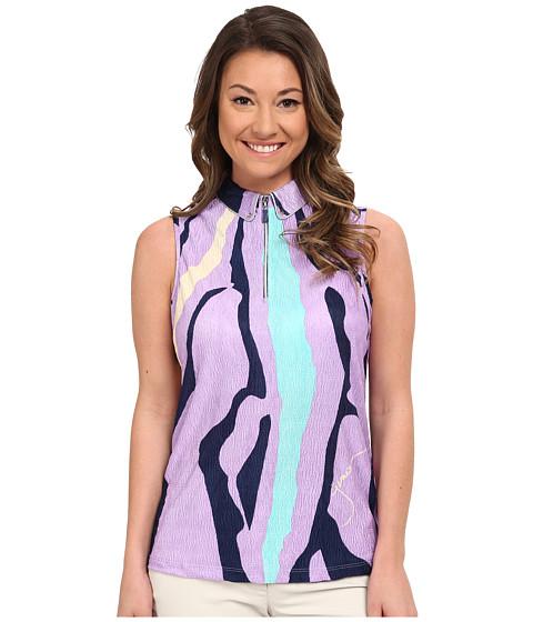 Jamie Sadock - Crunchy Bubble Textured Fujiyama Print Sleeveless Top (Violetta) Women