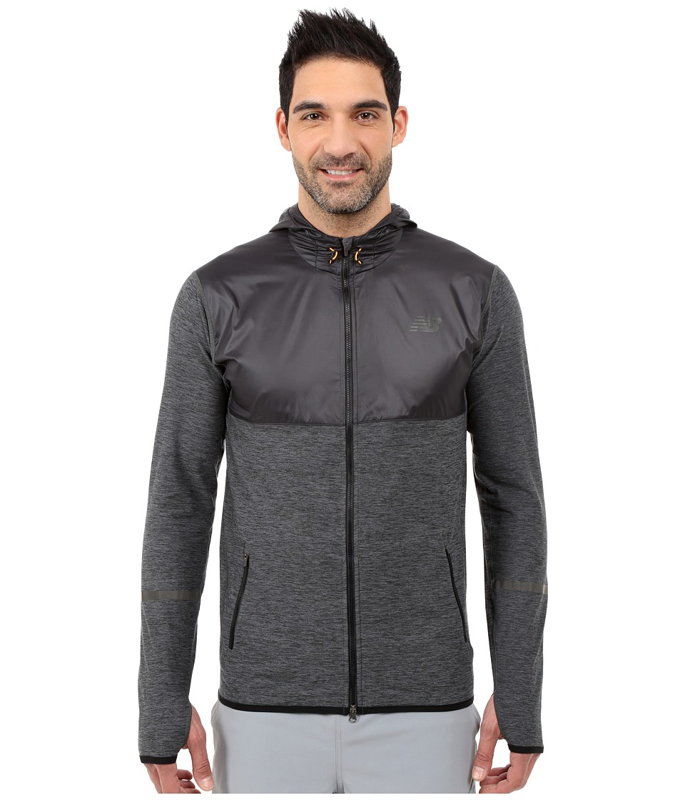 New Balance - Transit Hoodie (Heather Charcoal/Black) Men's Sweatshirt