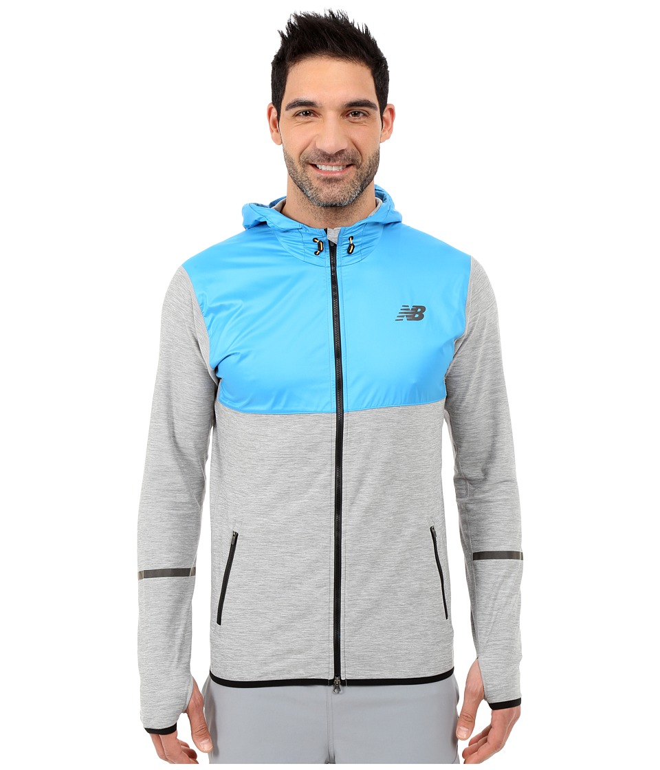 New Balance - Transit Hoodie (Heather Grey/Multi/Sonar) Men